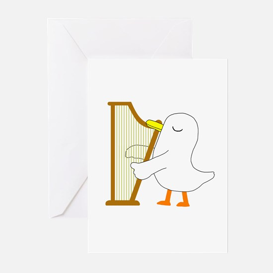 Harpist Greeting Cards (Pk of 20)