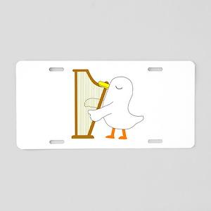 Harpist Aluminum License Plate