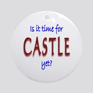 Time For Castle Ornament (Round)
