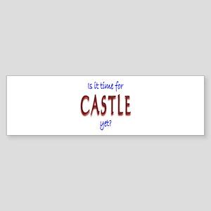 Time For Castle Sticker (Bumper)