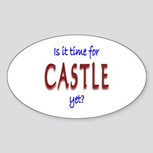 Time For Castle Sticker (Oval)
