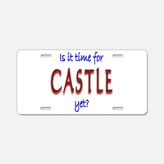 Time For Castle Aluminum License Plate