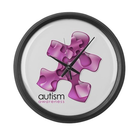 PuzzlesPuzzle (Pink) Large Wall Clock