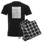 Ab Major Scale Men's Dark Pajamas