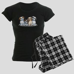 Four Shih Tzus Women's Dark Pajamas