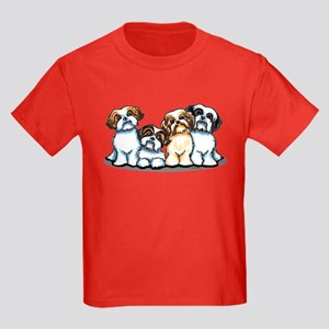 Four Shih Tzus Kids Dark T-Shirt