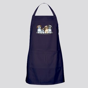 Four Shih Tzus Apron (dark)