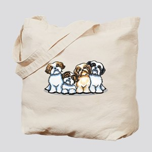 Four Shih Tzus Tote Bag