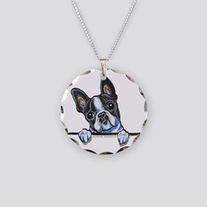 Curious Boston Necklace Circle Charm