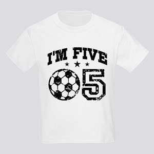 Five Year Old Soccer Kids Light T-Shirt