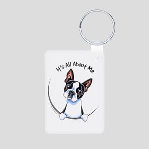 Boston Terrier IAAM Aluminum Photo Keychain
