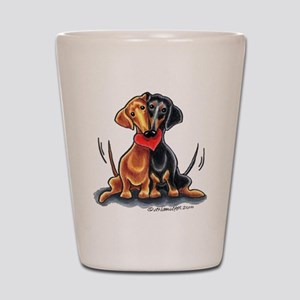 Smooth Dachshund Lover Shot Glass