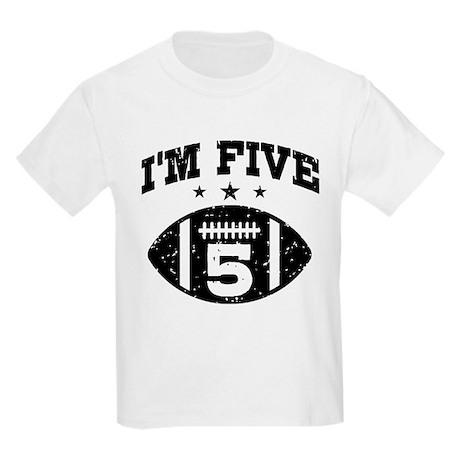 Five Year Old Football Kids Light T-Shirt