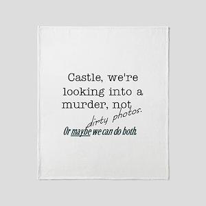 Castle: Murder and Dirty Photos Throw Blanket