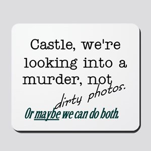 Castle: Murder and Dirty Photos Mousepad