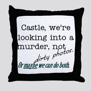 Castle: Murder and Dirty Photos Throw Pillow
