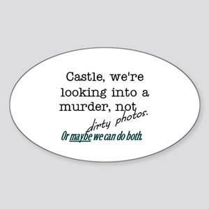 Castle: Murder and Dirty Photos Sticker (Oval)