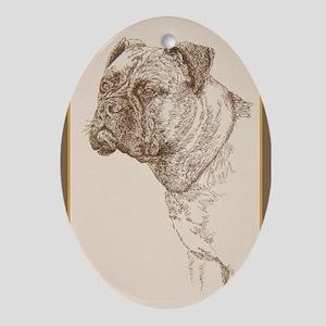 Bullmastiff Ornament (Oval)