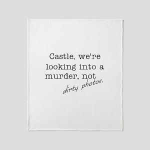 Castle: Not Dirty Photos Throw Blanket