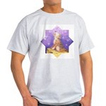 Little Wolf Howling Ash Grey T-Shirt