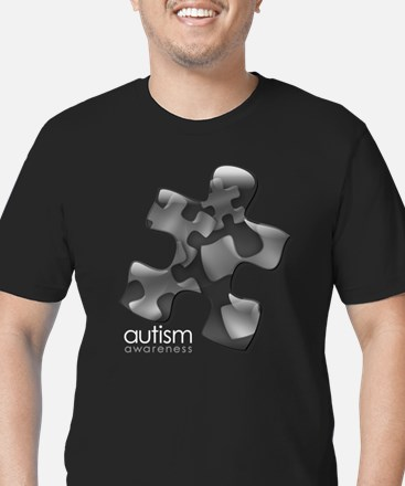 PuzzlesPuzzle (Black) Men's Fitted T-Shirt (dark)