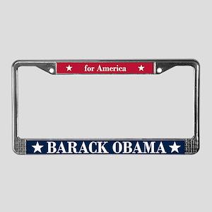 Barack Obama for America License Plate Frame