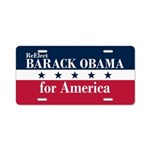 Barack Obama for America Aluminum License Plate