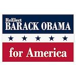 Barack Obama for America Large Poster
