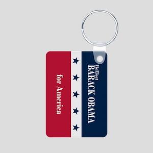 Barack Obama for America Aluminum Photo Keychain