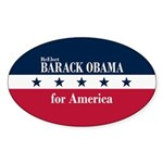 Barack Obama for America Sticker (Oval 10 pk)