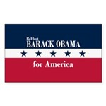 Barack Obama for America Sticker (Rectangle)