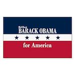 Barack Obama for America Sticker (Rectangle 10 pk)