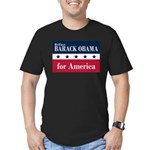 Barack Obama for America Men's Fitted T-Shirt (dar