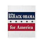 Barack Obama for America Throw Blanket