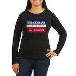 Barack Obama for America Women's Long Sleeve Dark