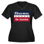 Barack Obama for America Women's Plus Size V-Neck