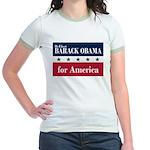 Barack Obama for America Jr. Ringer T-Shirt