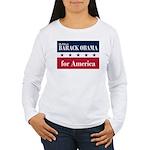 Barack Obama for America Women's Long Sleeve T-Shi