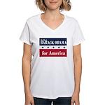 Barack Obama for America Women's V-Neck T-Shirt