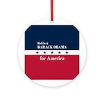 Barack Obama for America Ornament (Round)