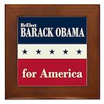 Barack Obama for America Framed Tile