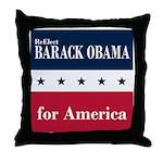 Barack Obama for America Throw Pillow