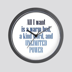 Unlimited Power Wall Clock