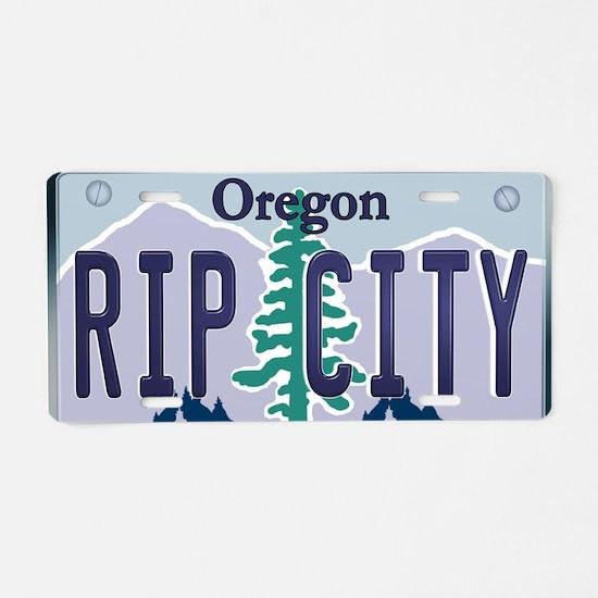 """RIP CITY"" Oregon License Plate Aluminum License P"