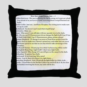 Dogs Change Lightbulb Throw Pillow