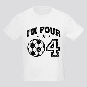 Four Year Old Soccer Kids Light T-Shirt