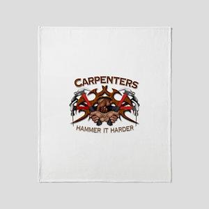 Carpenters Hammer It Throw Blanket