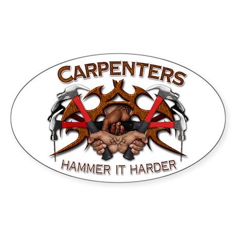 Carpenters Hammer It Sticker (Oval)