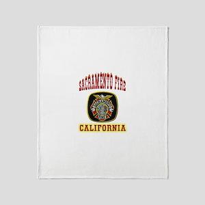 Sacramento Fire Department Throw Blanket