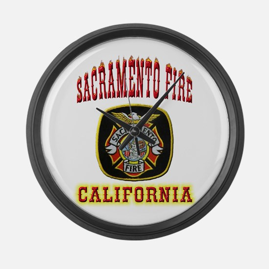 Sacramento Fire Department Large Wall Clock